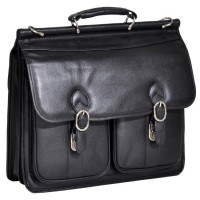 "Hazel Crest 15.6"" Leather Double Compartment Laptop Case"
