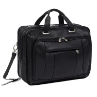 "River West 15.6"" Leather Fly-Through Checkpoint-Friendly Laptop Briefcase"