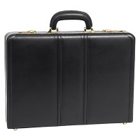 "Daley Leather 3.5"" Attache Briefcase"