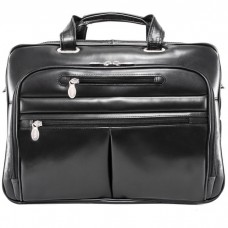 """Rockford 15.6"""" Leather Fly-Through™ Checkpoint-Friendly Laptop Briefcase"""