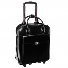 """Melrose 15"""" Leather Vertical Wheeled Ladies' Laptop Briefcase (EXCLUSIVE)"""