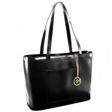 Alyson Leather Ladies Tote with Tablet Pocket